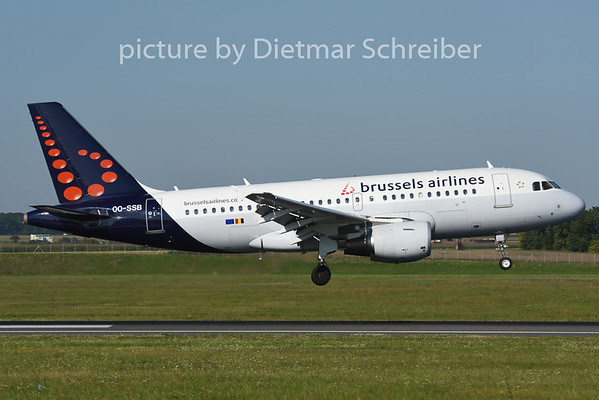 2014-08-28 OO-SSB Airbus A319 Brussels Airlines
