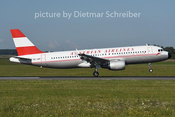 2014-08-28 OE-LBP Airbbus A320 Austrian Airlines