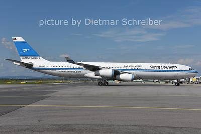 2014-09-21 9K-AND Airbus A340-300 Kuwait Airways