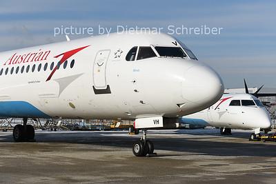 2014-12-31 OE-LVH Fokker 100 Austrian Airlines