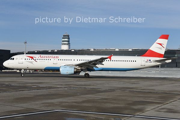 2014-12-31 OE-LBD Airbus A321 Austrian AIrlines