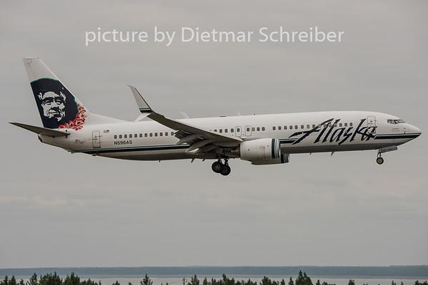 2015-06-20 N596AS Boeing 737-800 Alaska Airlines