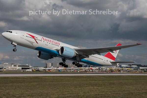 2015-09-29 OE-LPC Boeing 777-200 Austrian Airlines