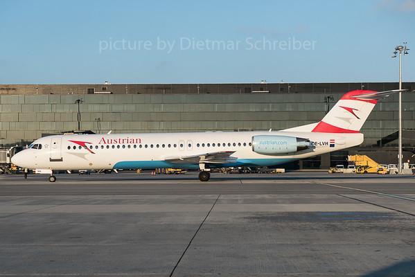 2015-12-31 OE-LVH Fokker 100 Austrian Airlines