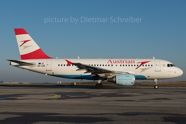 2016-01-22 OE-LDB AIrbus A319 Austrian Airlines