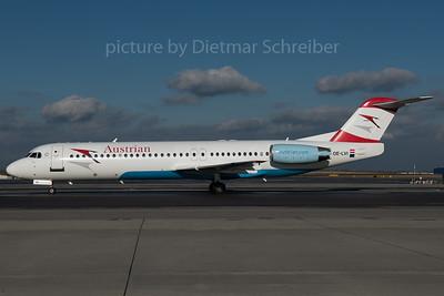 2016-01-29 OE-LVI Fokker 100 Austrian Airlines