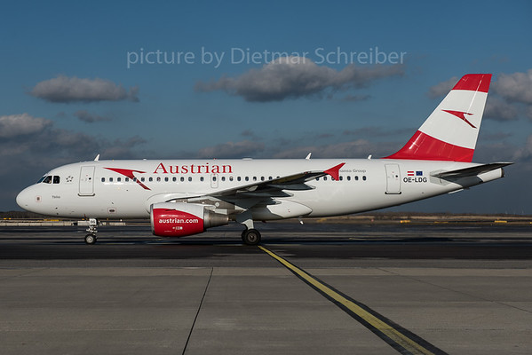 2016-01-29 OE-LDG Airbus A319 Austrian Airlines