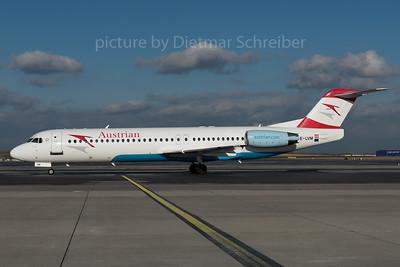 2016-01-29 OE-LVM Fokker 100 Austrian Airlines