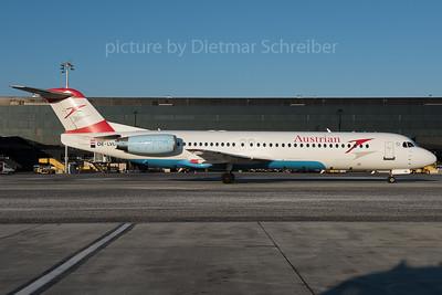 2016-01-22 OE-LVL Fokker 100 Austrian Airlines
