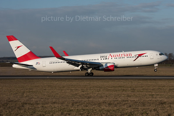 2016-02-26 OE-LAT Boeing 767-300 Austrian Airlines