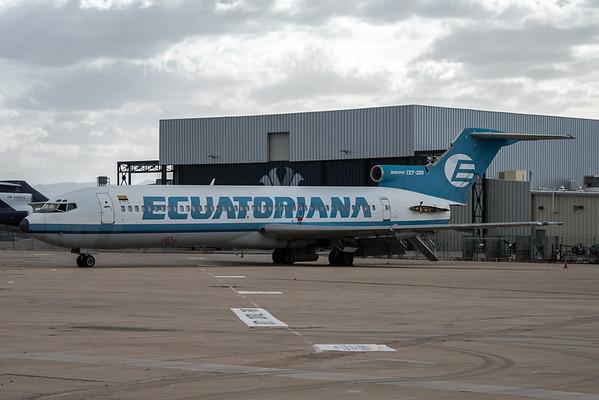 2016-03-07 N914PG Boeing 727-200 Ecuatoriana
