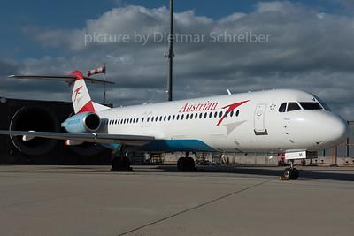 2016-05-31 OE-LVL Fokker 100 Austrian Airlines