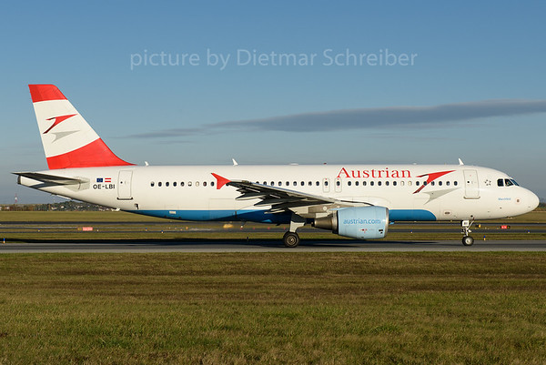 2016-10-31 OE-LBI Airbus A320 Austrian Airlines