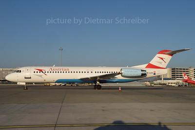 2017-01-22 OE-LVH Fokker 100 Austrian Airlines