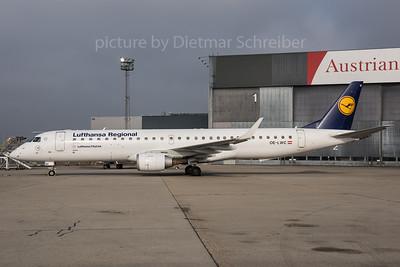 2017-01-27 OE-LWC Embraer 195 Lufthansa Regional