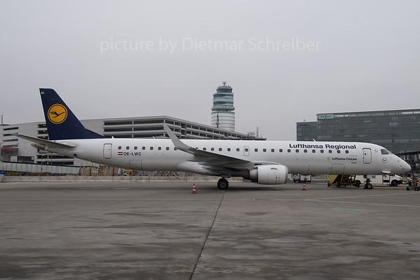 2017-01-24 OE-LWC Embraer 195 Lufthansa Regional