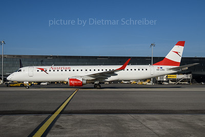 2017-02-15 OE-LWG Embraer 195 Austrian Airlines