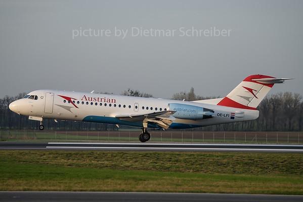 2017-03-31 OE-LFI Fokker 70 Austrian Airlines