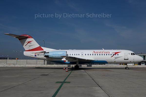 2017-03-31 OE-LFQ Fokker 70 Austrian Airlines