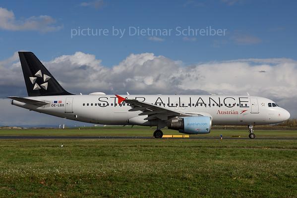 2017-10-30 OE-LBX Airbus A320 Austrian Airlines