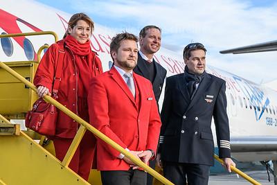 2017-12-31 OE-LVE Fokker 100 Austrian Airlines