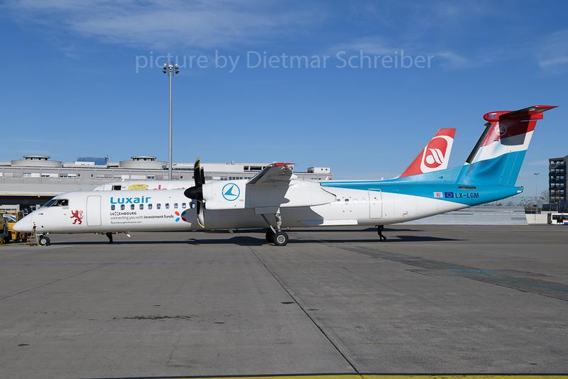 2018-01-29 LX-LGM Dash 8-400 Luxair
