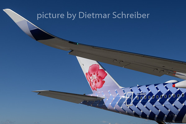 2018-10-30 B-18918 Airbus A350-900 China Airlines