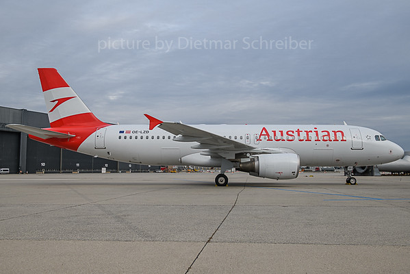 2019-10-29 OE-LZD Airbus A320 Austrian Airlines