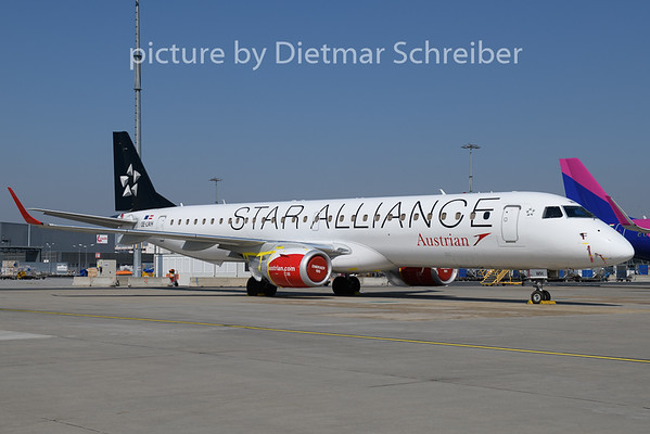 2020-03-24 OE-LWH Embraer 195 Austrian Airlines