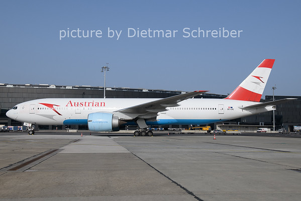 2021-02-23 OE-LPE Boeing 777-200 Austrian Airlines