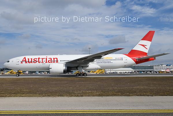 2021-02-28 OE-LPA Boeing 777-200 Austrian AIrlines