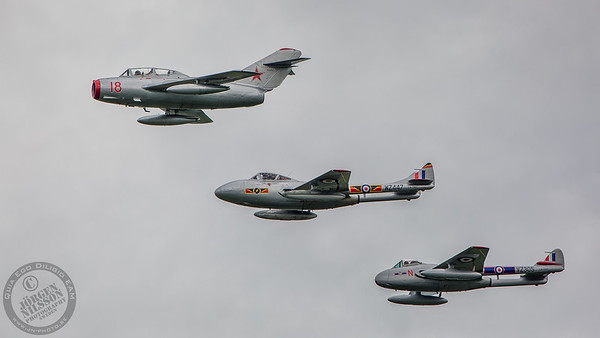 MiG-15 and Dh Vampire