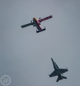 Skyvan and F-18 Hornet