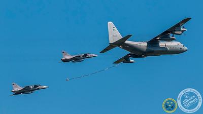 KC-130 - Air re-fuel display