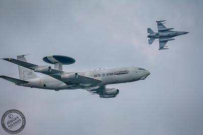 E-3 Sentry AWACS and F16