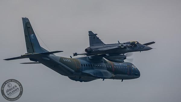 CASA C-295M and SAAB JAS 39C Gripen