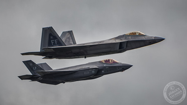 F-22 Raptor and F-35A Lightning II