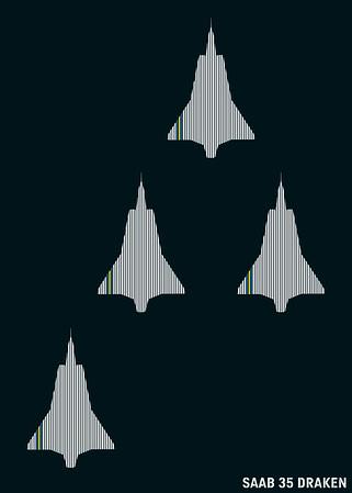 SAAB 35 Draken - Sweden
