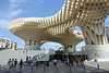 Seville / Spain – September 15 2018: A view of the Metropol Parasol, or Las Setas De Sevilla