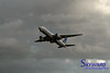 United Airlines Boeing 777 on climb out of Tokyo Narita Airport