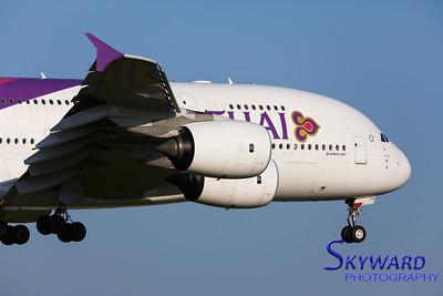 Thai A380 Final Approach