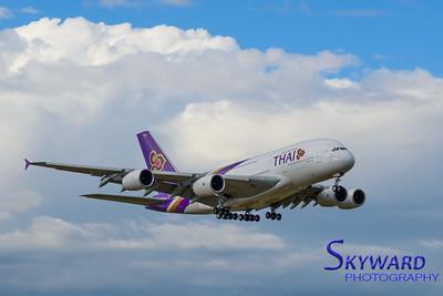 Thai Airbus A380. Tokyo Narita Airport