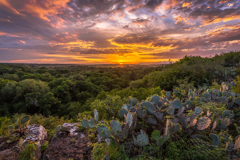 Purgatory Creek Overlook Sunset