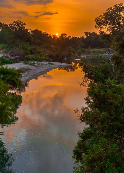 Sunrise on the Blanco River