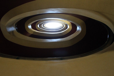 Looking up the stairwell of the old Daily Express building at 120 Fleet St, London, UK - GB030