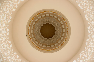 Looking up into another of the 82 domes of Sheikh Zayed mosque, Abu Dhabi - AE025