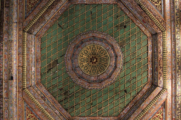 The ceiling of the teke (monastery) attached to the King's Mosque in Berat - AL013