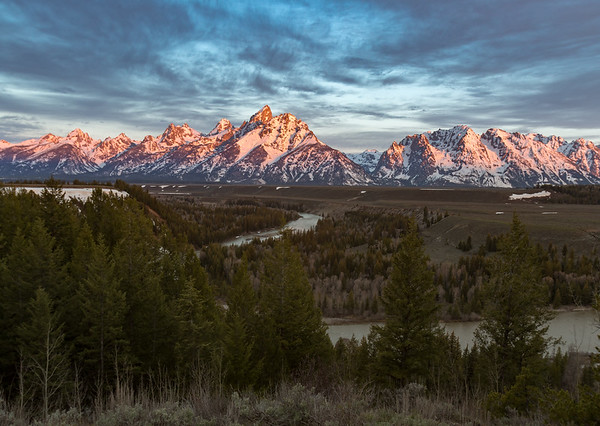Alpenglow at Snake River Overlook