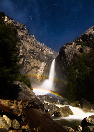 Double Moonbow at Lower Yosemite Falls