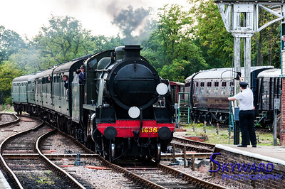 U Class No 1638 approaches Horsted Keynes, Bluebell Railway